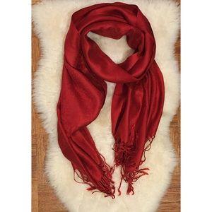 💕3/$20 Crimson Red Pashmina Scarf Shawl 🌷